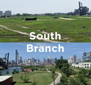Proposed office and mixed-use development site along the Chicago River South Branch