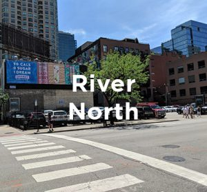 Proposed office development site in Chicago's River North