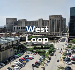 Office building under renovation in Chicago's West Loop